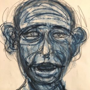Anxious Self-Portrait, Ira Wright Summer 2020
