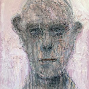 Loneliness is also a Virus, May 2020. Mixed media on canvas. IRA WRIGHT