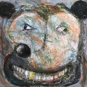 "IRA WRIGHT: ""Mickey Now,"" 2019. Acrylic on panel, 24"" x 24"""