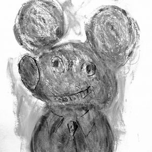 Mister Mickey Sir, 2019. Crayon, charcoal on rag paper, 19.75 x 25.5