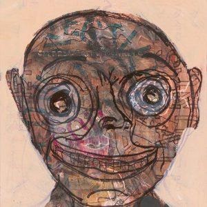 "IRA WRIGHT: ""Portrait at 85 and Three Quarters,"" acrylic, 13.5 x 16.25"" Acrylic, 20 ""x 24"""